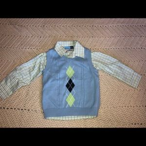 3/3t Good Lad long sleeve shirt and sweater vest